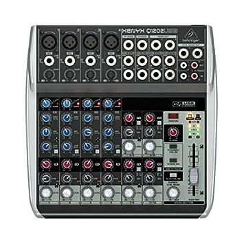 Amazon.com: BEHRINGER XENYX Q1202USB Mezclador: Musical ...