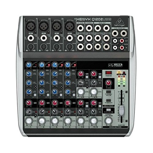 BEHRINGER, 12 Mixer - Powered, Black (Q1202USB)