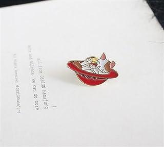 Upstudio Distintivi di Gioielli di novità Accessori distintivi per Bottoni con Bottoni a Forma di Gatto Spille