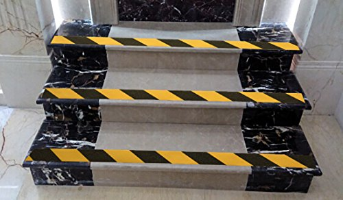 Anti Slip Tape , High Traction, Grit Uniform , Strong Grip Abrasive , Not Easy Leaving Adhesive Residue , Indoor & Outdoor Non Slip Tape Roll and Measuring Tape by Yorwe
