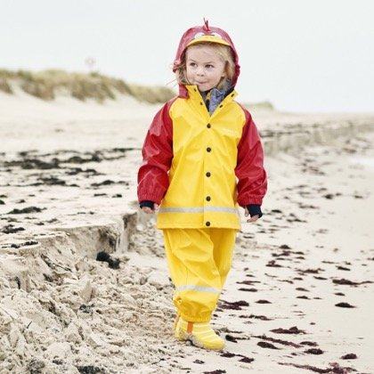 Polarn O Baby Pyret RED Rooster RAIN Coat