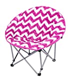 3C4G Chevron Moon Chair, Hot Pink