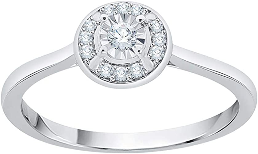 Diamond Wedding Band in Sterling Silver G-H,I2-I3 Size-8.25 1//10 cttw,
