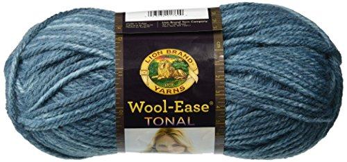 Lion Brand Yarn 635-107 Wool-Ease Tonal Yarn, Slate Blue