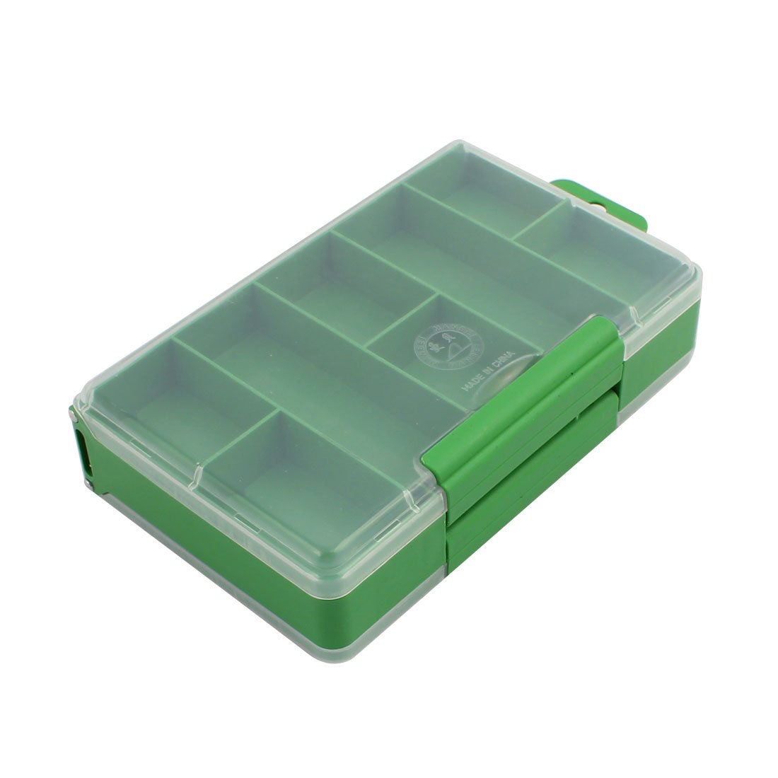 uxcell 2-layer Tool Boxes Length 150mm Weight 93mm Height 41mm Double-sided 16 Slots Portable