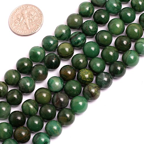 GEM-inside 8MM Round Green Africa Jade Jadeite For Jewelry Making Beads Gemstone Gem Round Loose Beads Findings Accessories Strand 15 Inches