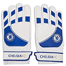 Chelsea Football Club Official Soccer Gift Youth Goalkeeper Goalie Gloves Blue