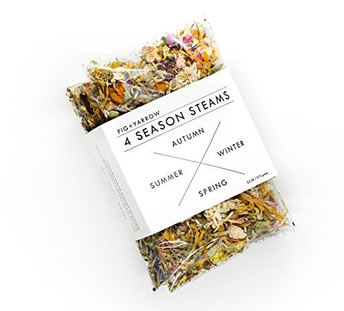 FIG+YARROW - Organic & Wildcrafted Herbal Facial Steam (4 Season Sampler) by FIG+YARROW Four Seasons Sampler