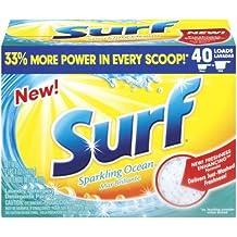 2 Pk, Surf Powder Laundry Detergent Sparkling Ocean(40 loads,3LB,4oz)
