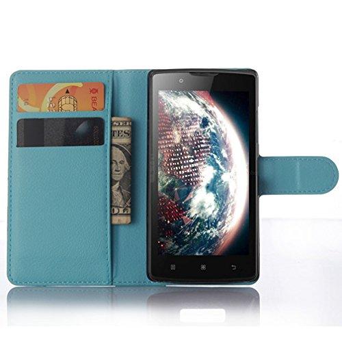 Funda Lenovo A2010,Manyip Caja del teléfono del cuero,Protector de Pantalla de Slim Case Estilo Billetera con Ranuras para Tarjetas, Soporte Plegable, Cierre Magnético H