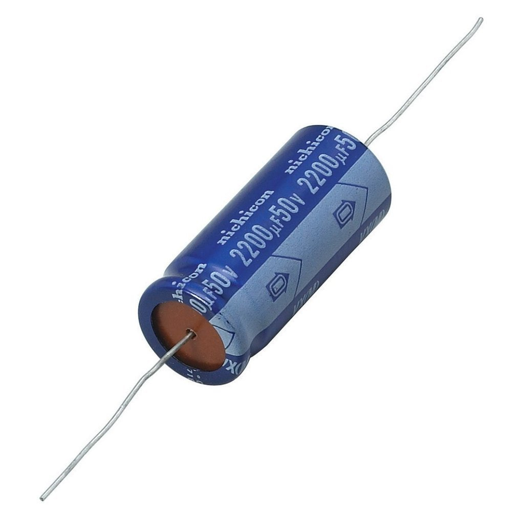 2200/µF 50V 20/% Axial-Lead Electrolytic Capacitor