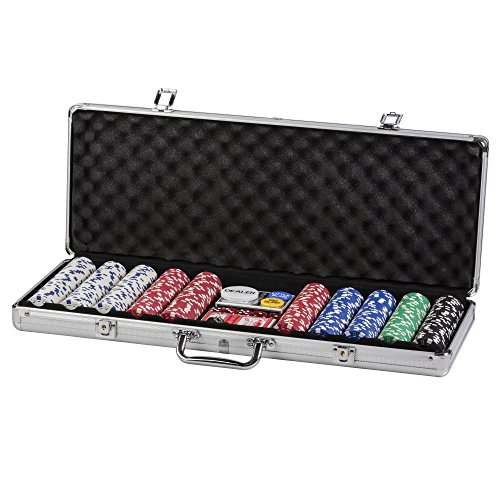 Triumph 500-Piece All-in-One Poker Set with Luggage-Style Aluminum Carrying Case with Two Key