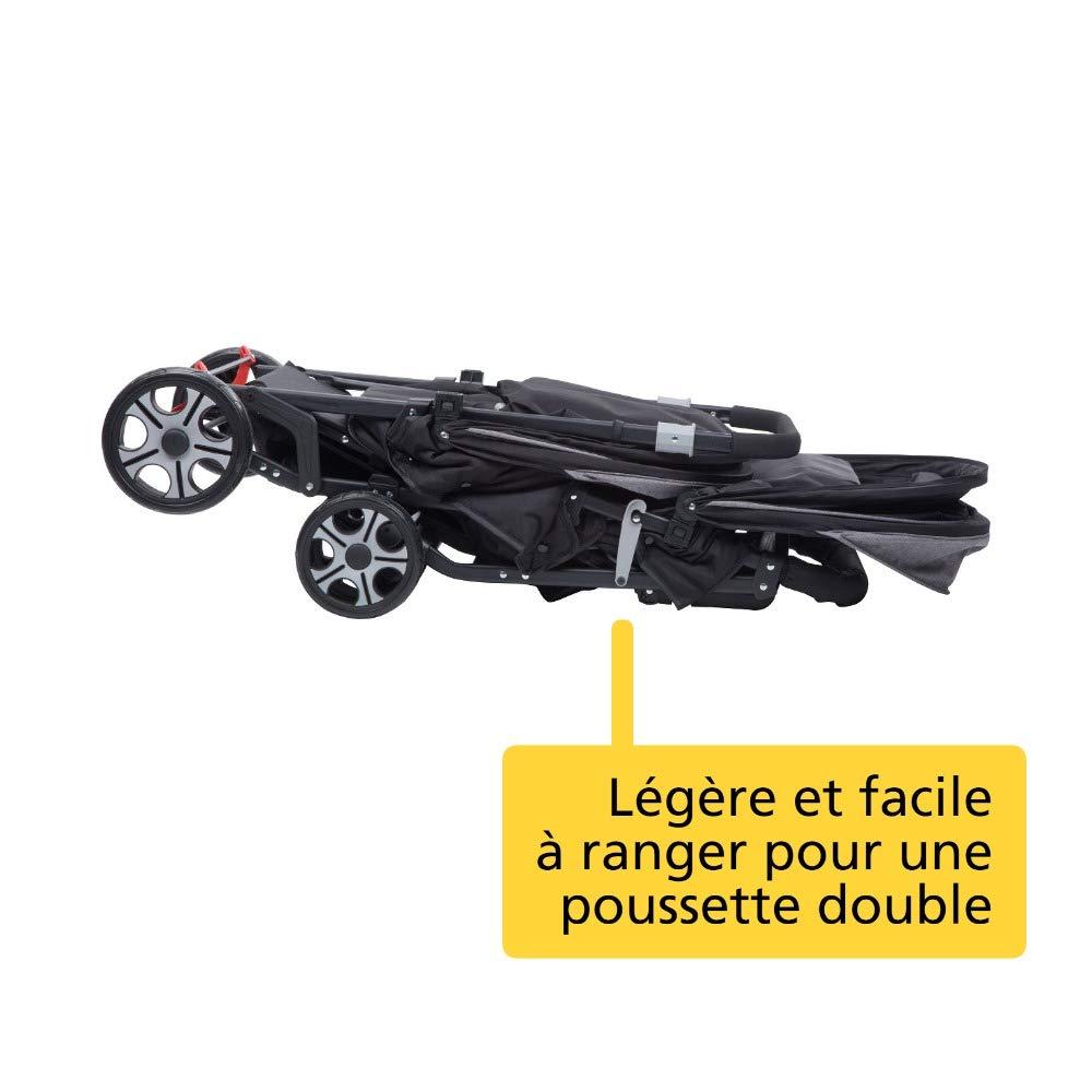 Safety 1st Teamy Poussette Double pour Jumeaux// Enfants Age Rapproch/és Black Chic Naissance /à 3.5 ans