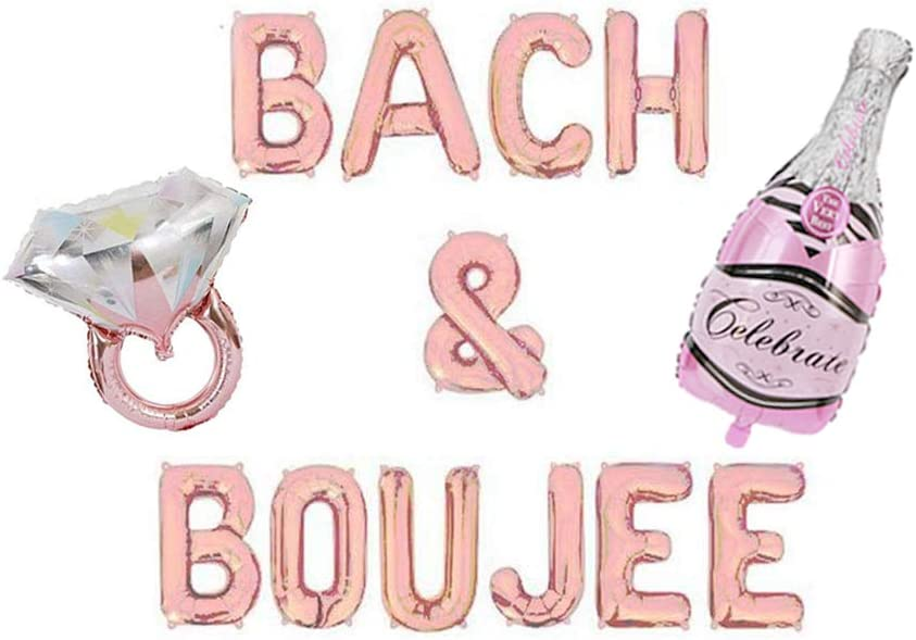 Bach & Boujee Balloons Banner Bachelorette Party Decor Bach Party Decorations Bride and Boujee Banner Bachelorette Decor Rose Gold Balloon