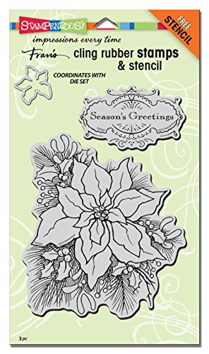 Stampendous Cling Rubber Create A Poinsettia Stamp Set by STAMPENDOUS