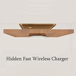 10W/7.5w/5w Fast Wireless Charger Qi Charging Desktop Hidden Table Embedded Charger for Furniture Cafe Hotel Restaurant Pad Ultra Slim Universa0l Compatible with iPhone 8 11 Samsung etc