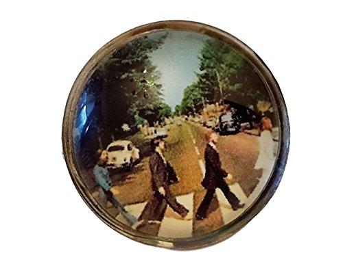 The BEATLES Album Cover Logo Glass Dome Logo Pin (Beatles 1 Album Cover)