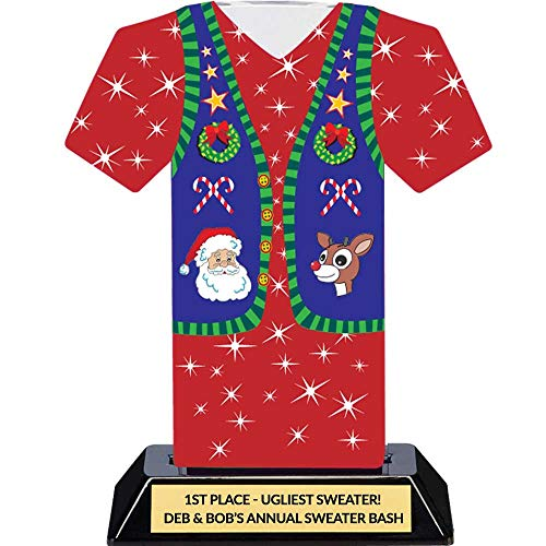 er Party Trophy - Tacky Sweater Award ()