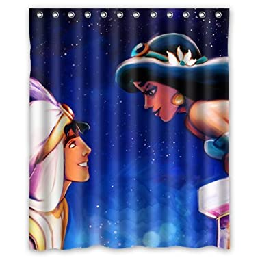Attractive Princess Jasmine and Aladdin Custom Shower Curtain 60 x 72 Inch Super Light