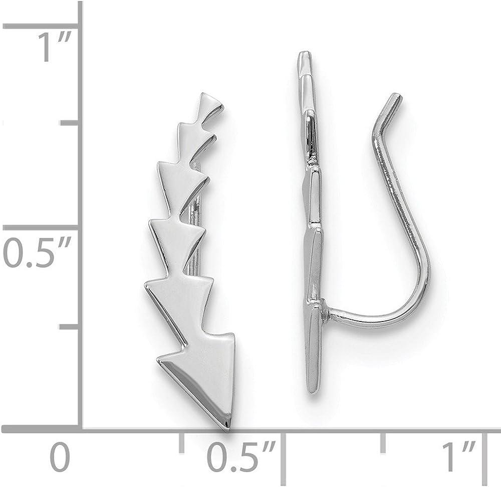 Leslies 925 Sterling Silver Polished Arrow Ear Climber Earrings