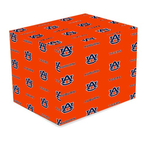 Auburn Paper - NCAA Auburn Tigers Orange Logo Print Gift Wrap Paper