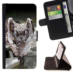 Momo Phone Case / Flip Funda de Cuero Case Cover - Mal Búho Ataque - LG G4 Stylus H540