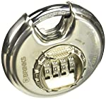 Brinks 173-80051 80mm Shielded Discus Lock with Resettable Combination