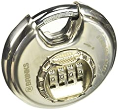 This 80mm stainless steel Discus lock body features an easy to use 4 dial combination, so you can select your own personalized combination. Easy to reset and you never need to worry about having a key. The lock is constructed with a stainless...