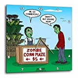 3dRose Rich Diesslins Funny Out to Lunch Cartoons - Zombie Corn Maze - going commercial - 15x15 Wall Clock (dpp_266814_3)