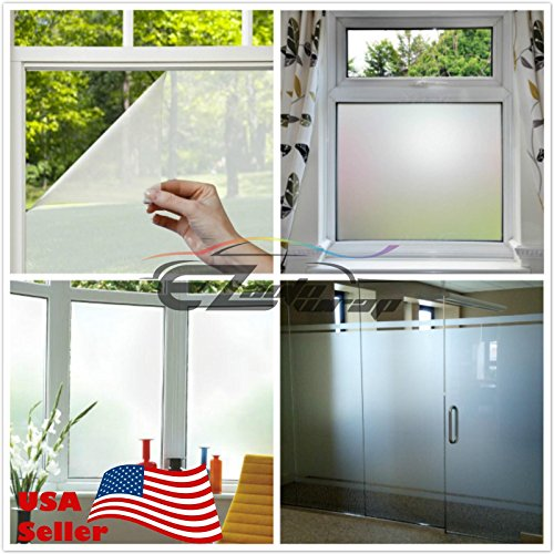 Free Tool Kit EZAUTOWRAP Frosted Glass Peel And Stick Window Film Home Bedroom Bathroom Privacy Waterproof Sticker Decal - 48''X480'' (4FT X 40FT) by EZAUTO WRAP (Image #3)