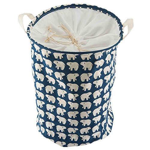 Foldable Laundry Hamper Basket Waterproof for organizing baby clothes (Blue)