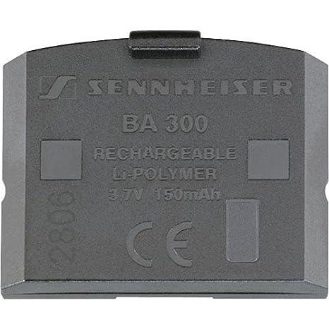 Sennheiser BA 300 - Batería/Pila recargable (150 mAh, Polímero de litio, 3.7V) Negro: Amazon.es: Electrónica