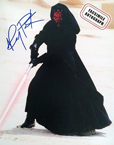 Facsimile Signed Star Wars Phantom Menace, Ray Park - Darth Maul