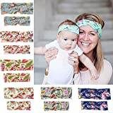 Baby : BEEGOO 6 Pack Mom and Baby Headbands Turban Knotted, Girl's Hairbands for Newborn,Toddler & Childrens