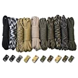 Paracord Planet 550lb Type III Paracord Combo Crafting Kits with Buckles (SURVIVAL) Reviews