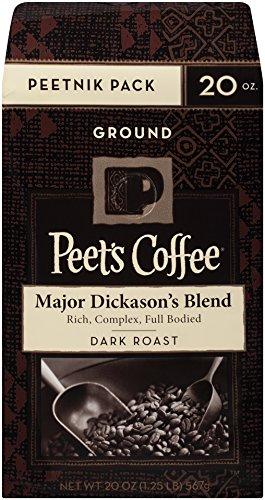 Peet's Coffee Peetnik Pack, Major Dickason's Blend, Dark Roast, Ground, 20oz. Bag