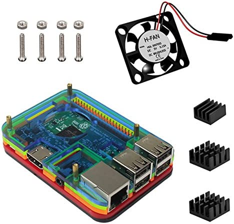 Para Raspberry Pi 3 Caja Ventilador Kit: Amazon.es: Electrónica