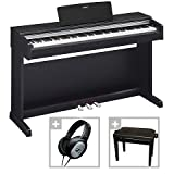 Yamaha YDP-142 B Arius Digital Piano Black Matt SET incl Bank + Headphones