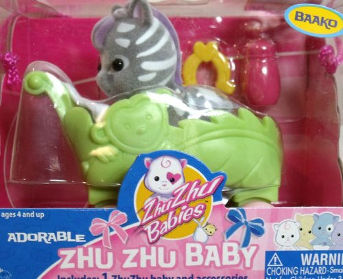 Zhu Zhu Baby Baako Baby Zebra - Zebra Elm