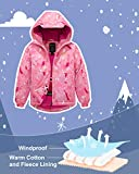 Wantdo Girl's Winter Fleece Lined Ski Jacket Hooded Windbreaker Pink 14/16