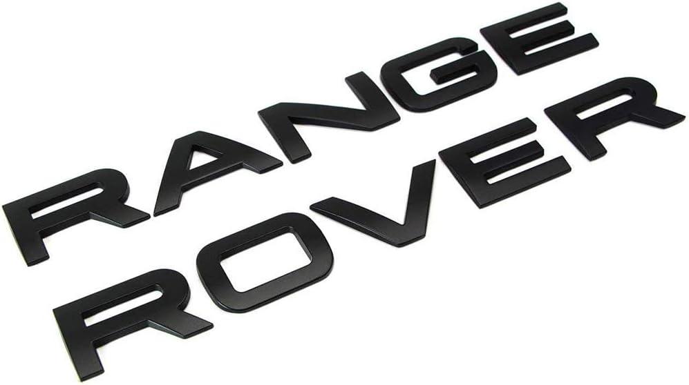 L/&U 1set 3D Head Couverture de Capot Lettres Avant embl/ème Sportif Ligne Badge Lettre Embl/ème Range Rover Autocollants Logo Decal,Bright Silver