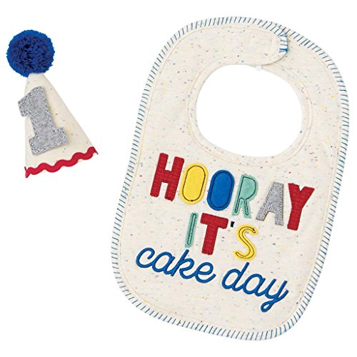 Mud Pie Baby Boys First Birthday Cake Smashing Set, Multi, One Size (1st Birthday Hats)