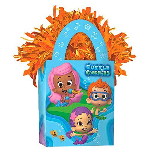 Bubble Guppies Mini Tote Party Balloon Weight Decoration, Cardstock, 5.7 oz.. -