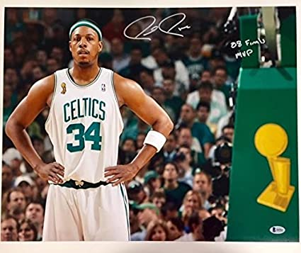 5d175c0e4 Paul Pierce 08 Finals Mvp Autographed Signed Memorabilia Celtics 16X20  Photograph Bas Beckett Witness COA at Amazon s Sports Collectibles Store