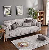 L&Zr Slipcovers, Reversible Quilted Furniture Protector, Improved Anti-Slip Cover With Non-Slip Particles, Cotton Couch Shield, Pet Cover By Easy-Going(1 Sheet),110160Cm