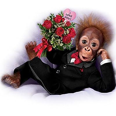 Ashton-Drake Orangutan Doll in Tuxedo with a Rose Bouquet: Wild About You by The Ashton-Drake Galleries