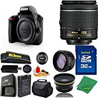 Great Value Bundle for D3300 DSLR – 18-55mm AF-P + 32GB Memory + Wide Angle + Telephoto Lens + Case