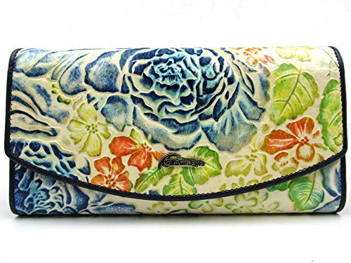 Flower Hand Painted Leather Wallet - 1