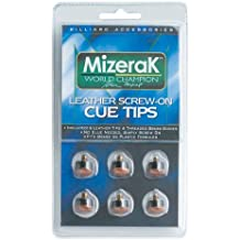 Mizerak Screw-on Leather Cue Tips