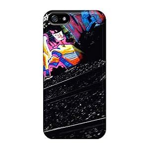 Jamesmeggest Iphone 5/5s Hybrid Tpu Case Cover Silicon Bumper Graffiti